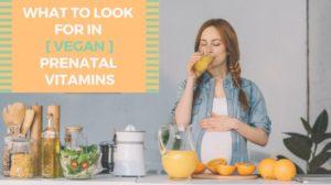 What To Look For In Vegan Prenatal Vitamins